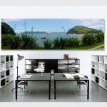 Landscape panoramic photography New Zealand printed on canvas to decorate home or office
