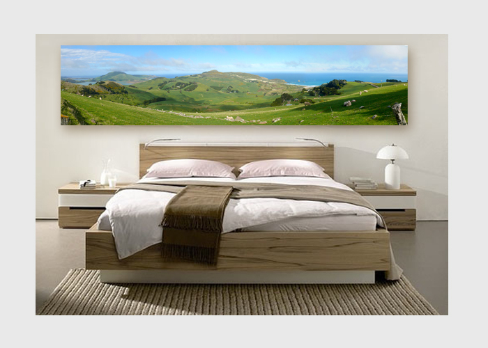 NZ-Otago-peninsula-panorama-on-canvas-bedroom