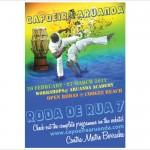 Poster for a Capoeira Roda for Capoeira Aruanda