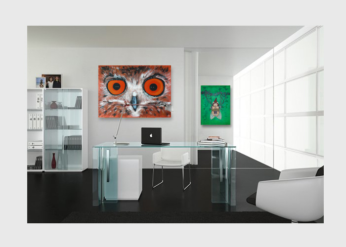 Home-office-decorated-with-illustration-canvas