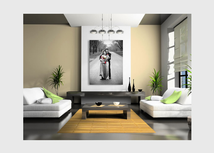 wedding-photo-couple-B&W-on-canvas