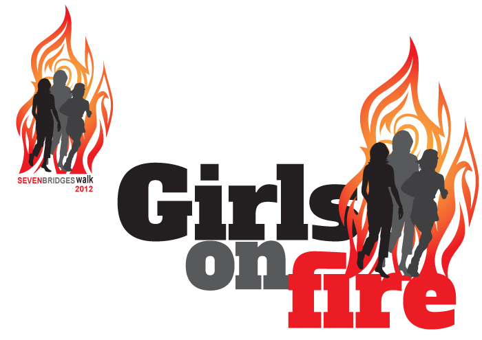 Logo for the walking team Girls on Fire